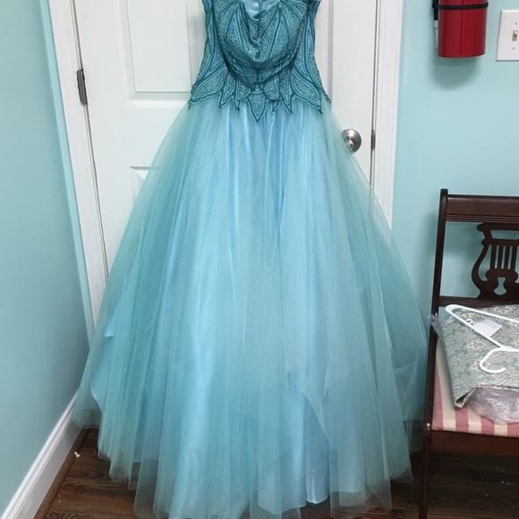 Sky Blue Prom Ball Gown | Poshmark